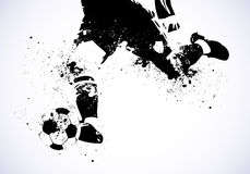 Grunge Soccer is going to shoot. Abstract background Royalty Free Stock Image