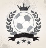 Grunge Soccer laurel weath Royalty Free Stock Images