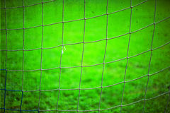 Grunge soccer net background Royalty Free Stock Photography