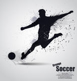Grunge soccer player Stock Photos