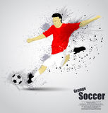 Grunge soccer player Stock Image