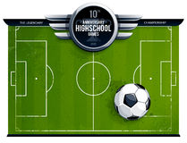 Grunge soccer playing field Stock Photography