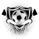 Grunge Soccer Shield Royalty Free Stock Photography