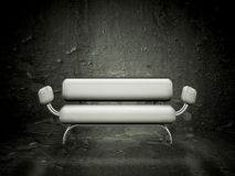 Grunge sofa. Contemporary style sofa against a grunge texture Stock Photography