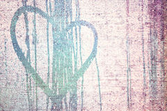Grunge soft purple heart background Stock Images