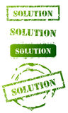 Grunge Solution Stamp Set Royalty Free Stock Photo