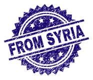 Grunge som textureras FRÅN den SYRIEN stämpelskyddsremsan vektor illustrationer