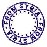 Grunge som textureras FRÅN skyddsremsan för SYRIEN rundastämpel vektor illustrationer