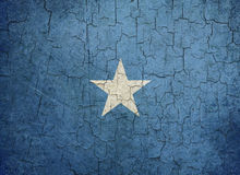 Grunge Somalia flag. Somalian flag on a cracked grunge background Stock Images