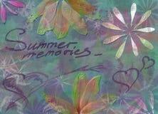 Grunge Sommerhintergrund Stockbilder