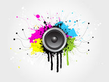 Grunge sound royalty free illustration