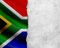 Grunge South Africa flag stock images
