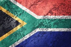 Grunge South Africa flag. South Africa flag with grunge texture. vector illustration