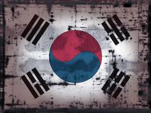 Grunge south korea Royalty Free Stock Image