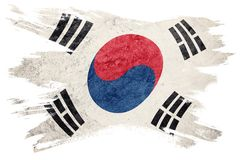 Grunge South Korea flag. South Korea flag with grunge texture. B stock illustration