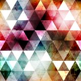 Grunge space color triangle seamless texture Stock Photo