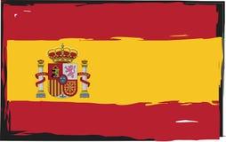 Grunge SPAIN flag or banner Stock Photos