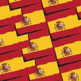 Grunge SPAIN flag or banner Royalty Free Stock Photo