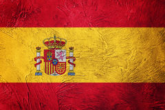 Grunge Spain flag. Spain flag with grunge texture. Grunge flag royalty free stock image