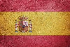 Grunge Spain flag. Spain flag with grunge texture. Grunge texture flag royalty free stock photos