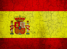Grunge Spanien flagga Arkivfoton