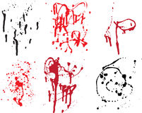 Grunge Spatter Collection Royalty Free Stock Images