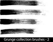 Grunge spazzola la riga Immagini Stock Libere da Diritti