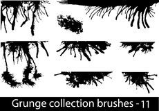 Grunge spazzola la riga Fotografia Stock Libera da Diritti