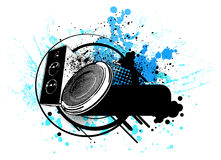 Grunge speaker  Royalty Free Stock Image