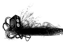 Grunge speaker. Grunge styler speaker illustration vector vector illustration