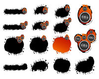 Grunge speaker collection Stock Image