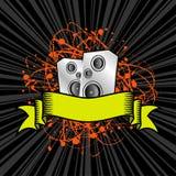 Grunge speaker scroll Royalty Free Stock Photography