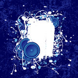 Grunge speaker text frame Stock Photo