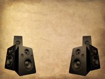 Grunge speakers Royalty Free Stock Images