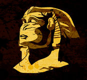 Grunge sphinx. Statue vector illustration Royalty Free Stock Images