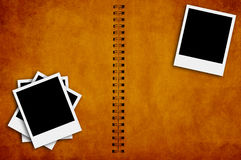 Grunge spiral bind photo album Royalty Free Stock Image