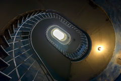 Grunge spiral staircase Stock Photography