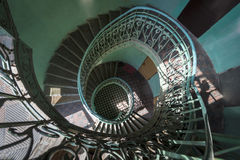 Grunge spiral staircase Royalty Free Stock Images