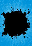 Grunge splash. In black and blue color eps Royalty Free Stock Photography