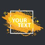 Grunge splash banner. Vector splatter labels with space for text. Grunge label. Stock Image