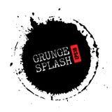 Grunge splash circle. Vector illustration Royalty Free Stock Photos