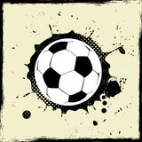 Grunge splash football Royalty Free Stock Photo