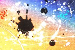 Grunge splashed colorful wooden background. Design element. Stock Image