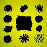 Grunge splashes artistic set Stock Image