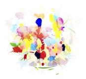 Grunge splashes color background Stock Images