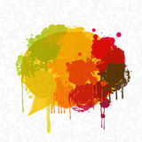 Grunge splashes empty color speech bubbles collection Royalty Free Stock Images