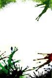 Grunge splat border. Grainy texture added to edges Royalty Free Stock Image