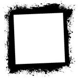 Grunge splat ink frame Stock Images