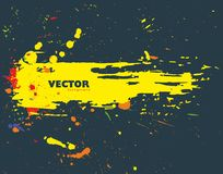 Grunge splatter banner design. Stock Photo