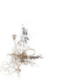 Grunge Splatter Flower Royalty Free Stock Photo